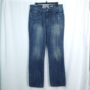 Kenneth Cole Straight Fit Sandwash Jeans